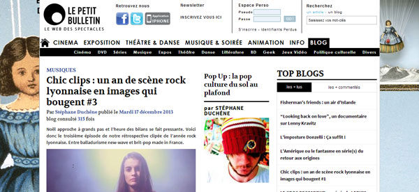 Le site internet du Petit Bulletin