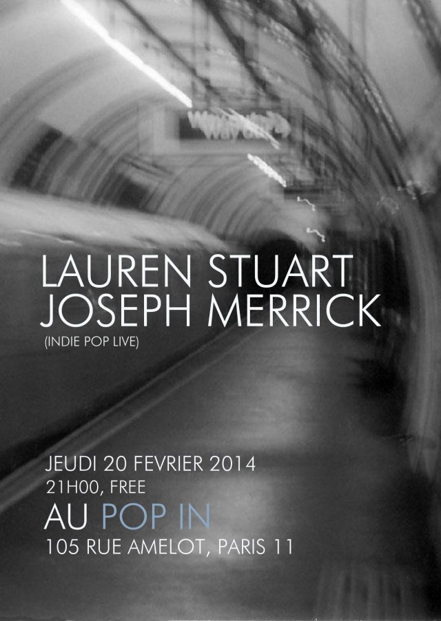 Lauren Stuart bientôt au Pop In, Paris 11